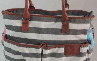 ibaby stripe weekend bag