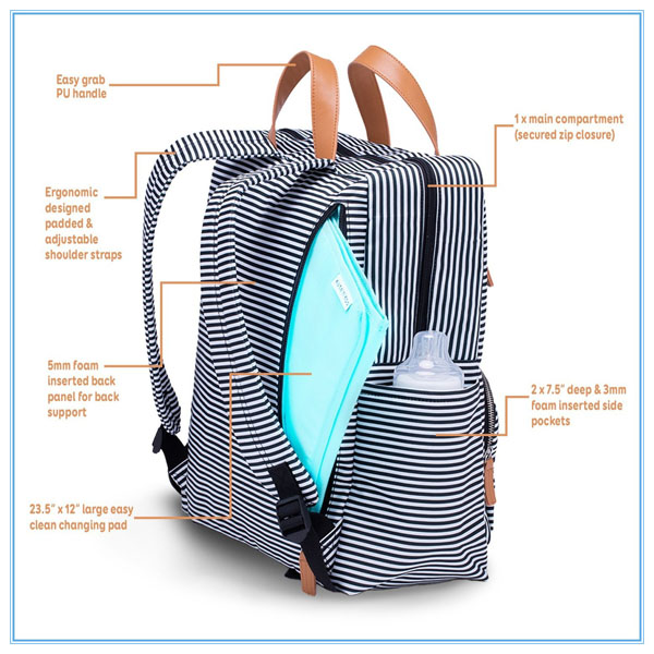 Fashion Diaper Bag Backpack