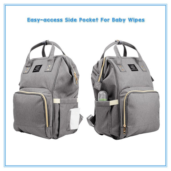 Waterproof Multifunctional Travel Nappy Tote