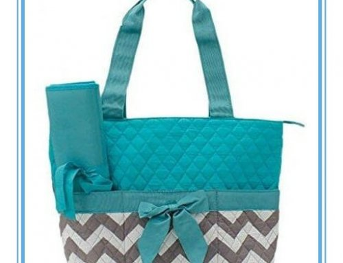 Quilted Owl Chevron Diaper Bag