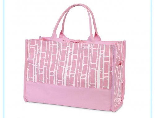 Baby pink open tote