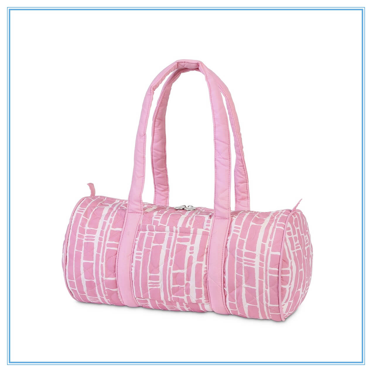 baby pink quilted small duffle