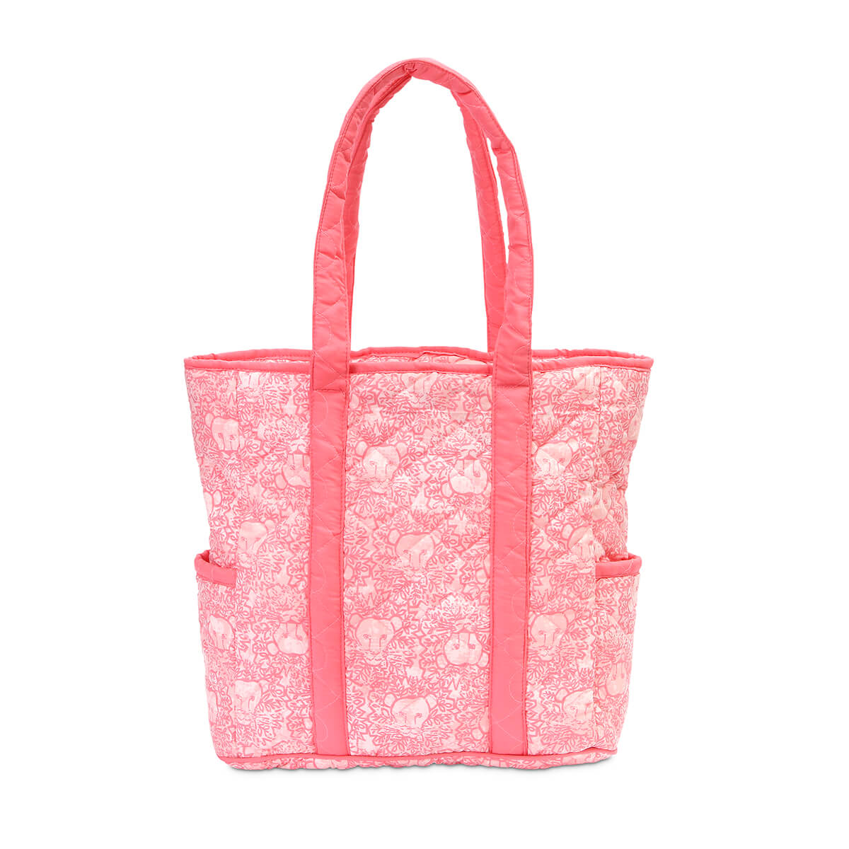 pink quilted harper tote