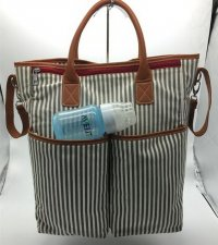 canvas stripe change bags