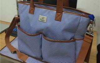 stripe mommy bags