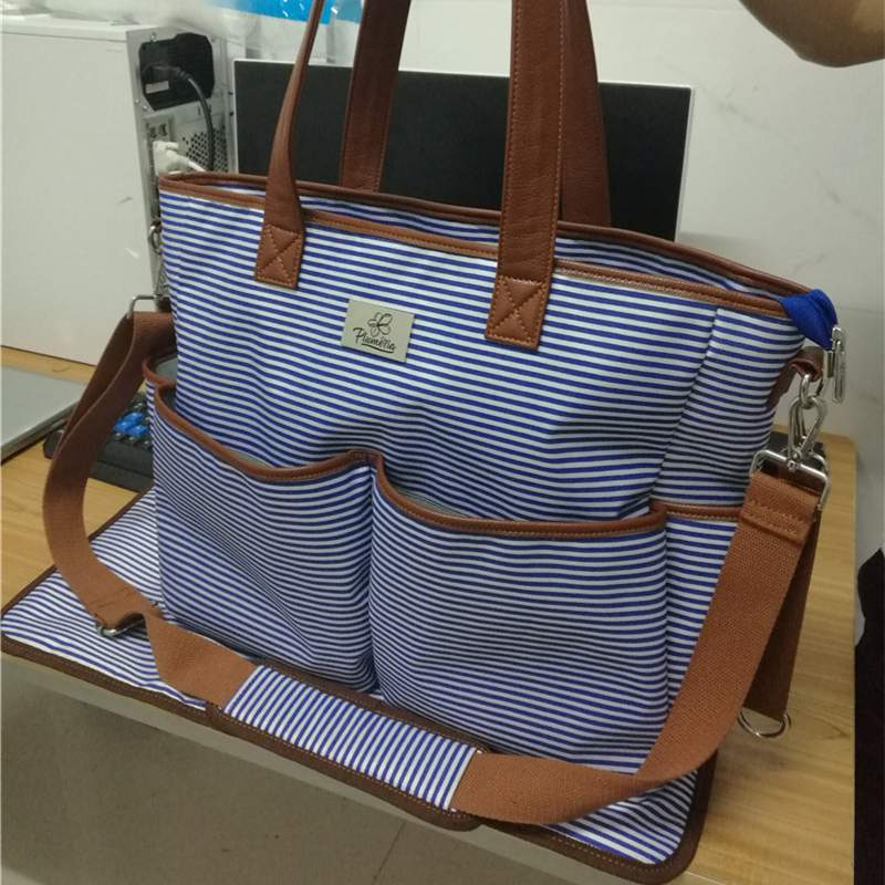 stripe mommy bags