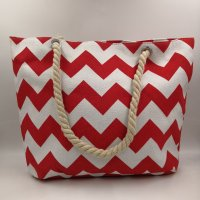 canvas chevron tote bag