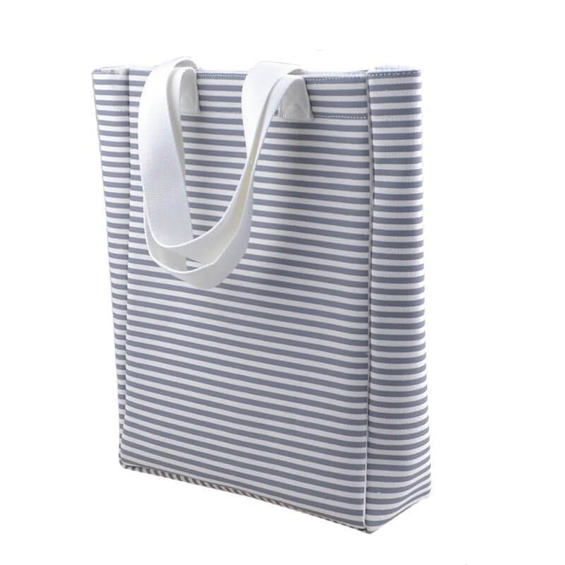 custom stripe tote bags