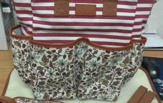 Hot Selling Fashion Strip Canvas Handbag