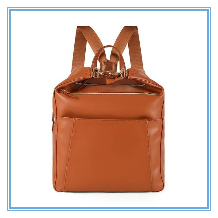 Leather Style Diaper Bag Backpacks
