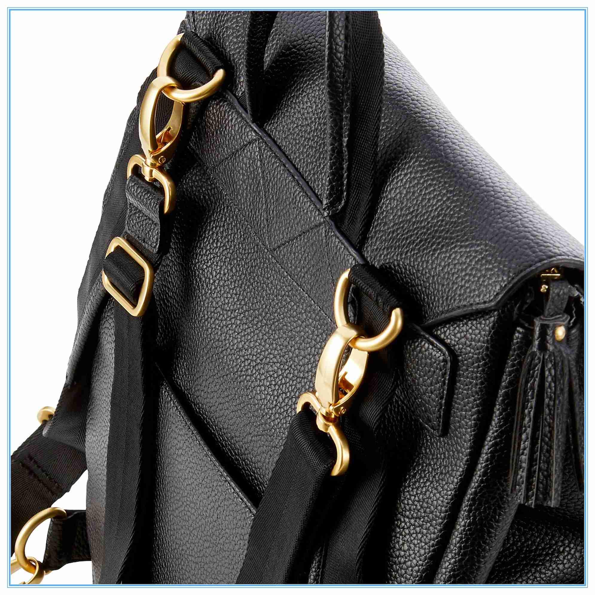 PU Leather Diaper Bag Backpack