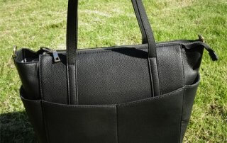 leather diaper bag
