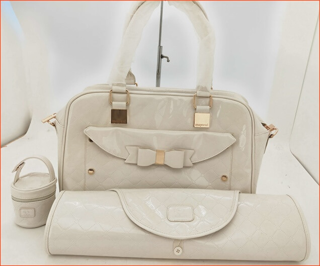 leather changing bag